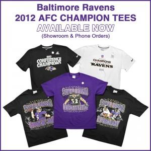 Baltimore Ravens 2012 AFC Champion Tees