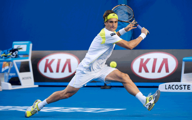 David Ferrer in Lotto at Australian Open 2013