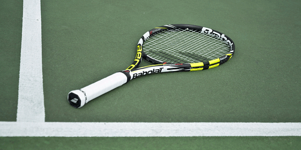 Rafael Nadal plays with the Babolat AeroPro Drive GT 2013