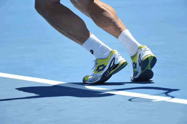 David Ferrer at 2013 Australian Open in Lotto