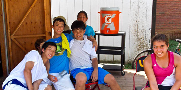 Holabird Sports UMBC Tennis Camp is a great place to make new friends.