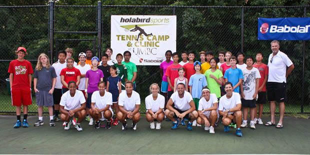 Holabird Sports UMBC Tennis Camp - happy campers