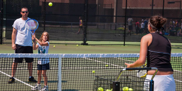Holabird Sports UMBC Tennis Camp has pro coaches to help you improve your game.