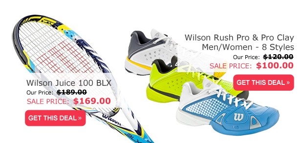 Wilson Weekends: Save every weekend on Wilson tennis racquets, shoes and more