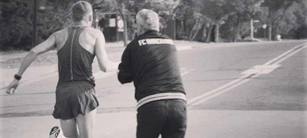Elite marathon runner Jason Hartmann