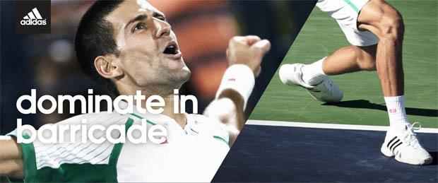Novak Djokovic adidas Barricade 8