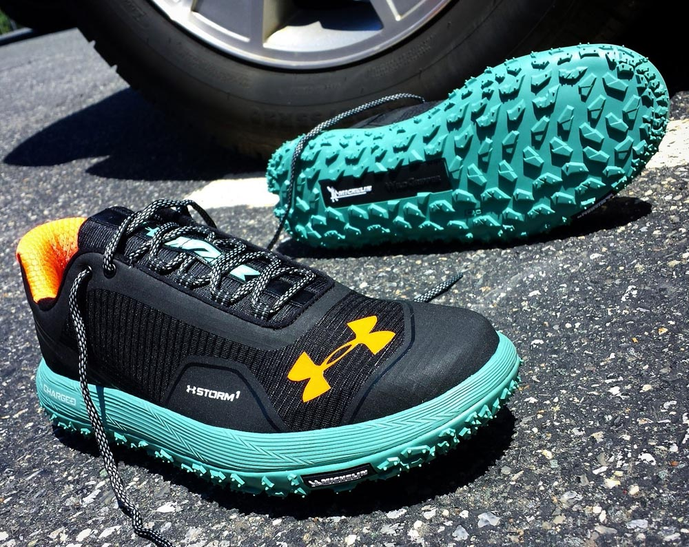 online retailer d51a1 95c64 The Under Armour Fat Tire Trail Shoe Mimics a Bicycle Tire ...