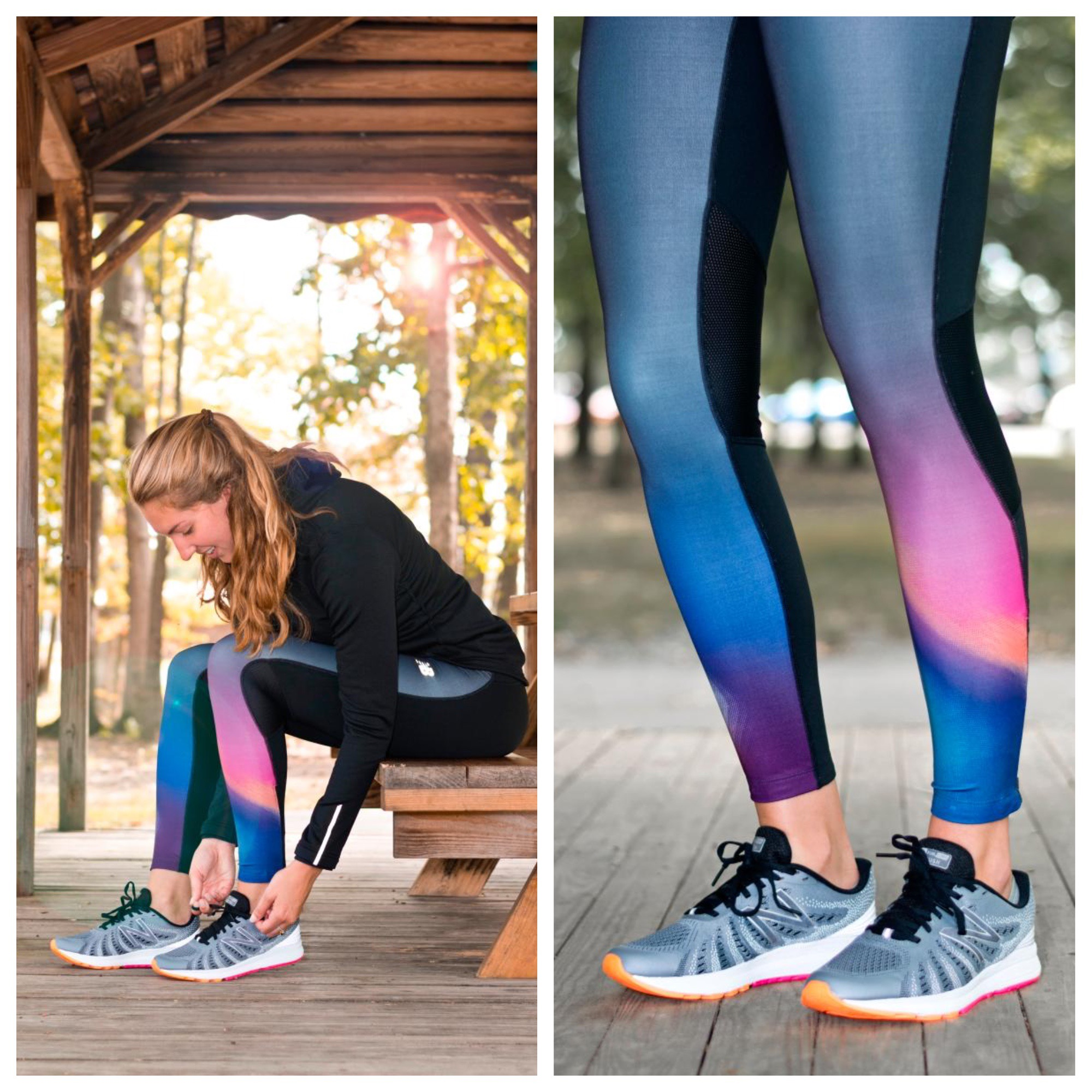 ceec06d08bc13 These New Balance leggings are comfortable, nice and everything pumpkin  spice. The compression style fit and gourd-geous New Balance Impact Premium  Print ...