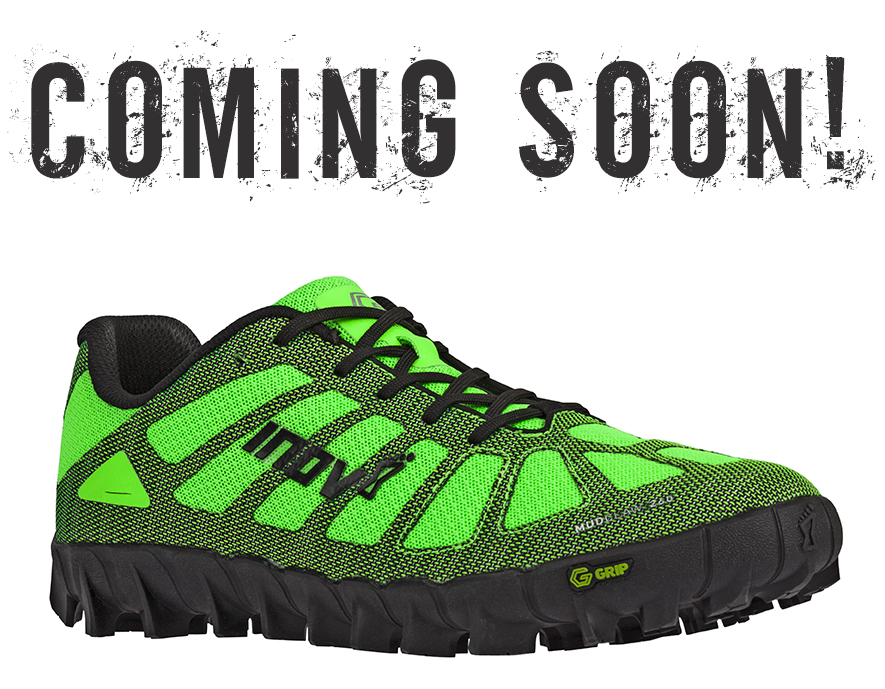 picture of inov-8 G-Series MudClaw shoe under coming soon banner